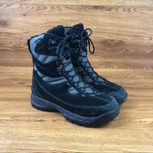 Vasque Pow Black Suede Leather Winter Snow Boots